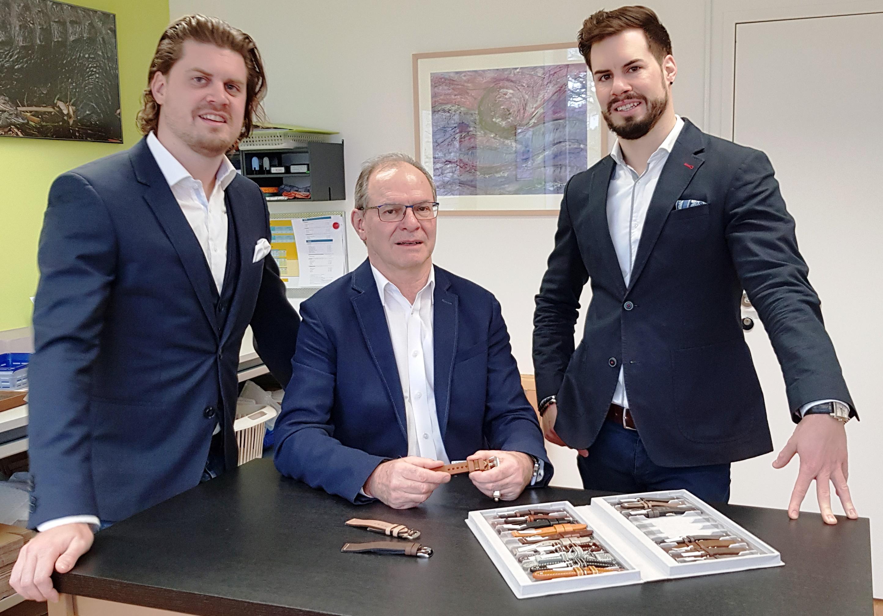 Manuel Hug, Gino Hug, Severin Hug (von links).